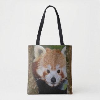 Bolsa Tote Retrato da panda por todo o lado no saco do