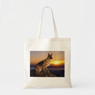 Bolsa Tote Retrato de um cão de german shepherd ou de um