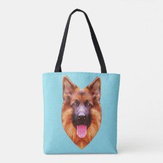 Bolsa Tote Retrato do cão de german shepherd