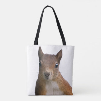 Bolsa Tote Retrato do esquilo por todo o lado no saco do