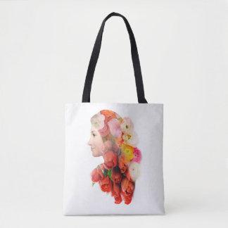 Bolsa Tote Retrato floral