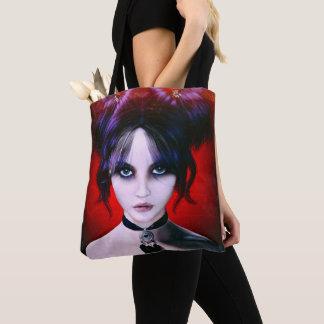 Bolsa Tote Retrato temperamental da menina do gótico