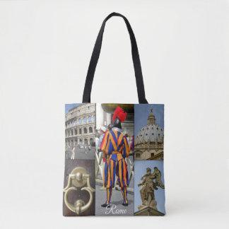 Bolsa Tote Roma a colagem da cidade eterno