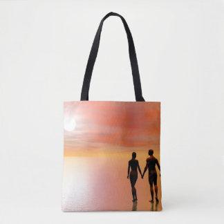 Bolsa Tote Romance do casal - 3D rendem