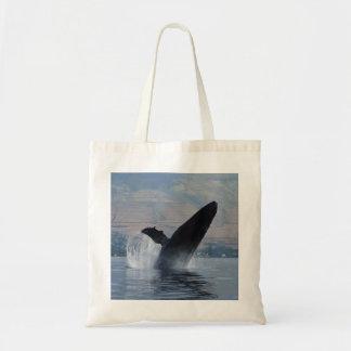 Bolsa Tote rompimento da baleia de humpback