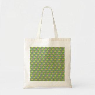 Bolsa Tote Rosa do teste padrão, sacola amarela do abacaxi