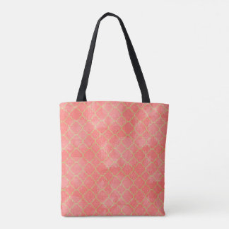 Bolsa Tote Rosa e saco de um quarto da folha do ouro