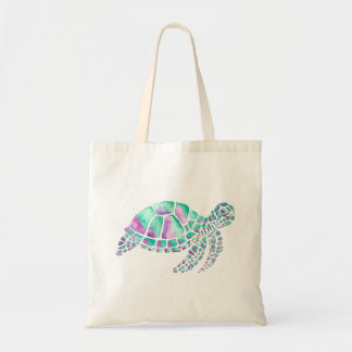 Bolsa Tote Rosa e tartaruga de mar da cerceta