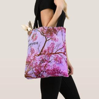 Bolsa Tote Rosa Pastel e lavanda florais