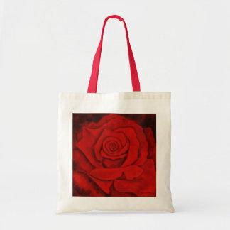 Bolsa Tote Rosa vermelha em um Tote. do orçamento