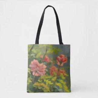 Bolsa Tote Rosas cor-de-rosa no por do sol