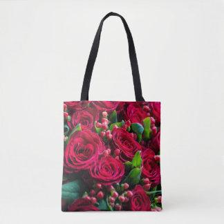 Bolsa Tote Rosas vermelhas