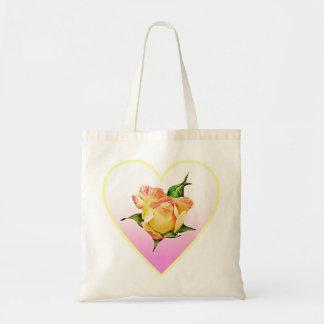 Bolsa Tote Rosebud do pêssego no coração