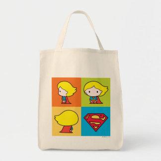 Bolsa Tote Rotação do caráter de Chibi Supergirl