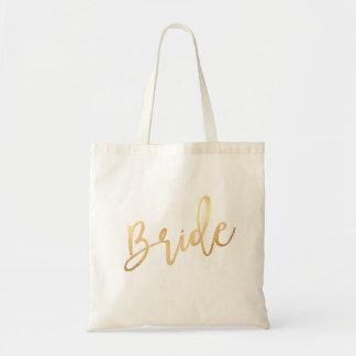 Bolsa Tote Roteiro da noiva de PixDezines/ouro do falso
