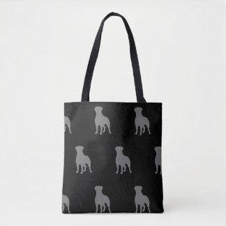 Bolsa Tote Rottweiler mostra em silhueta o teste padrão
