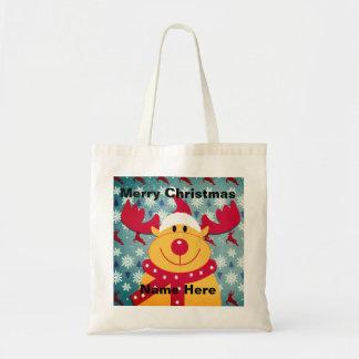 Bolsa Tote Rudolph a sacola com o nariz vermelho da rena