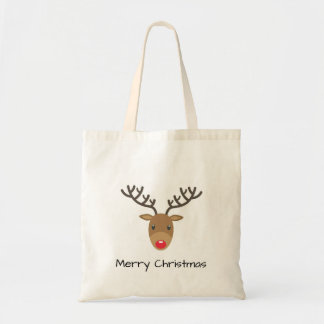 Bolsa Tote Rudolph o Feliz Natal da rena