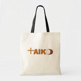 Bolsa Tote Rufando o cilindro de Taiko da sacola + Varas para