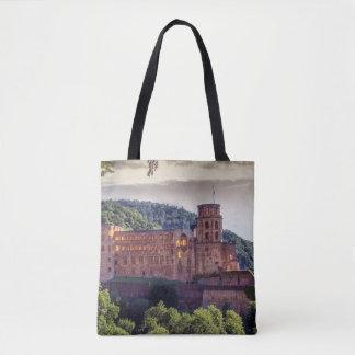 Bolsa Tote Ruínas famosas do castelo, Heidelberg, Alemanha