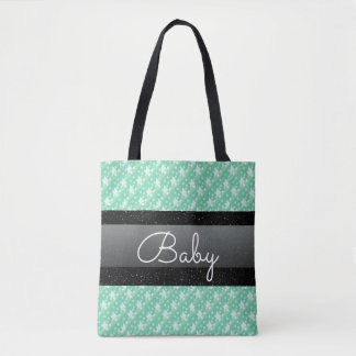 Bolsa Tote Saco à moda do bebê das bolinhas e dos pontos do