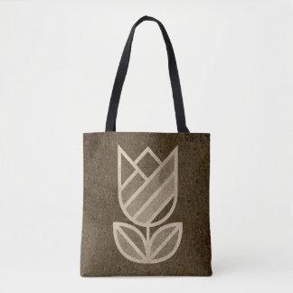 Bolsa Tote Saco abstrato da tulipa