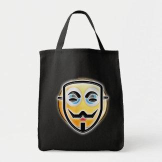 Bolsa Tote Saco anónimo engraçado dos doces da máscara do Dia