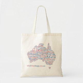 Bolsa Tote Saco australiano do calão da edição especial