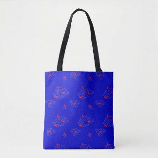 Bolsa Tote Saco azul da cabeça-quente