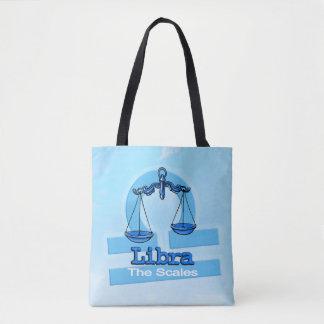 Bolsa Tote Saco azul do sinal do ar da astrologia do zodíaco