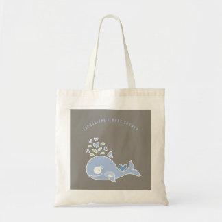 Bolsa Tote Saco azul grávido do presente do chá de fraldas do
