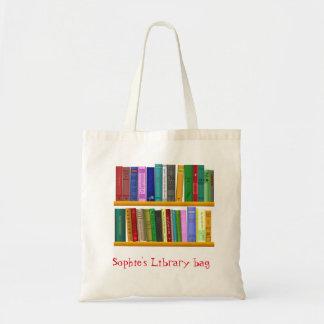 Bolsa Tote Saco bonito conhecido da biblioteca do livro do
