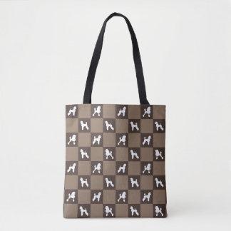 Bolsa Tote Saco Checkered da caniche