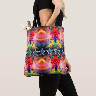 Bolsa Tote Saco clássico - desig abstrato colorido feliz