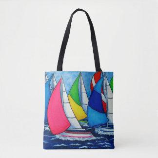 Bolsa Tote Saco colorido da regata por Lisa Lorenz