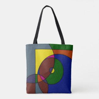 Bolsa Tote Saco colorido dos trabalhos de arte