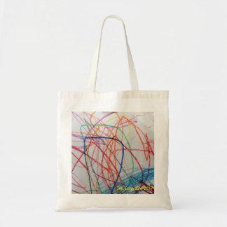 Bolsa Tote saco colorido feliz do divertimento