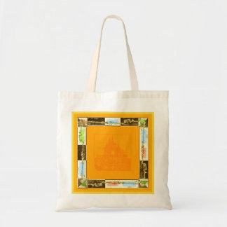 Bolsa Tote Saco com compra alaranjada da forma