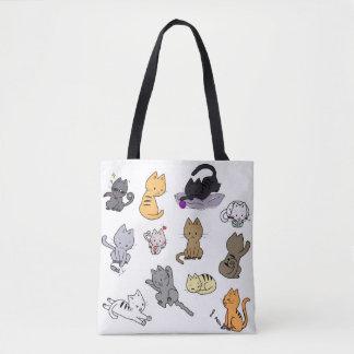 Bolsa Tote Saco com gatinhos