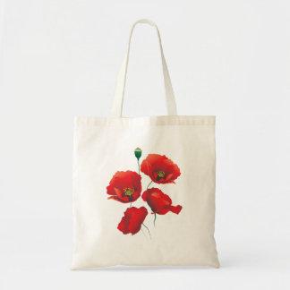 Bolsa Tote Saco com imagem dos poppies.