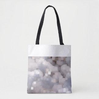 Bolsa Tote Saco com modelos cinzentos de cristal e margem
