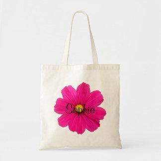 Bolsa Tote saco cor-de-rosa feminino bonito personalizado do