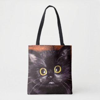 Bolsa Tote Saco da doçura ou travessura de Dracula do gato