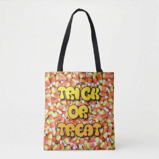 Bolsa Tote Saco da doçura ou travessura dos doces do milho e