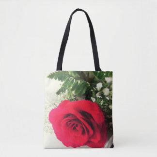 Bolsa Tote Saco da rosa vermelha