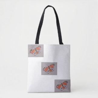 Bolsa Tote Saco das letras grandes da borboleta de pavão
