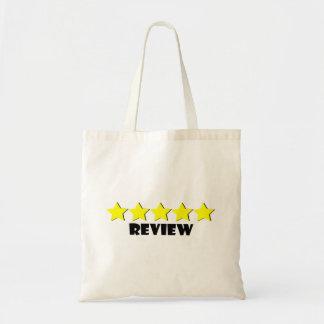 Bolsa Tote saco de cinco estrelas da revisão