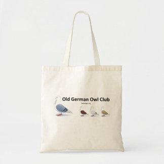 Bolsa Tote Saco de clube alemão velho da coruja