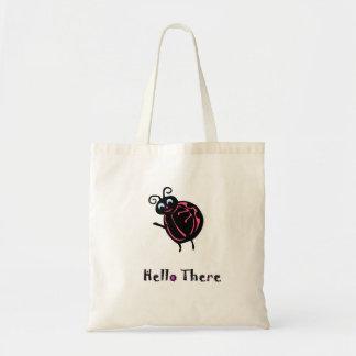 Bolsa Tote Saco de compras bonito simples do joaninha das