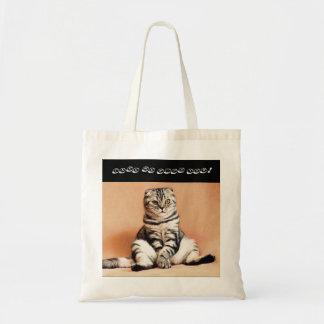 Bolsa Tote Saco de compras do gato da dobra do scottish de